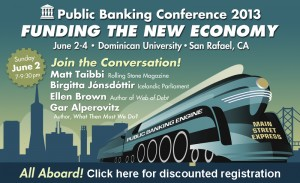 "Public Banking Conference - ""Funding the New Economy"" @ Angelico Hall  
