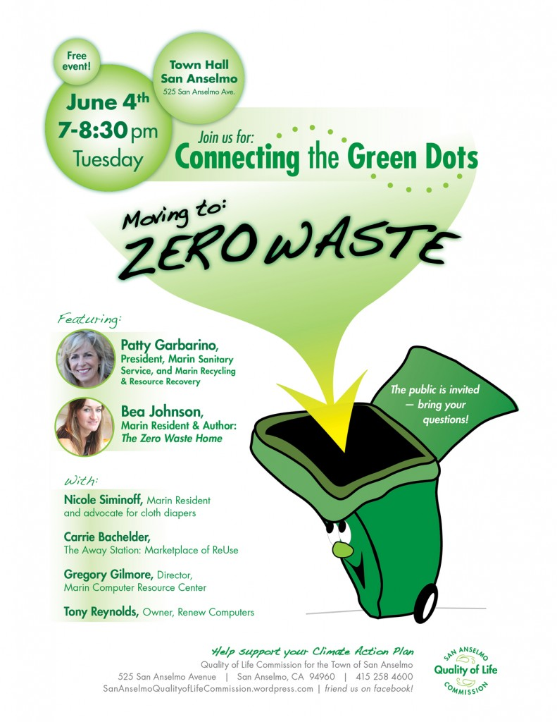 """Moving to Zero Waste"" Forum @ San Anselmo Town Hall 